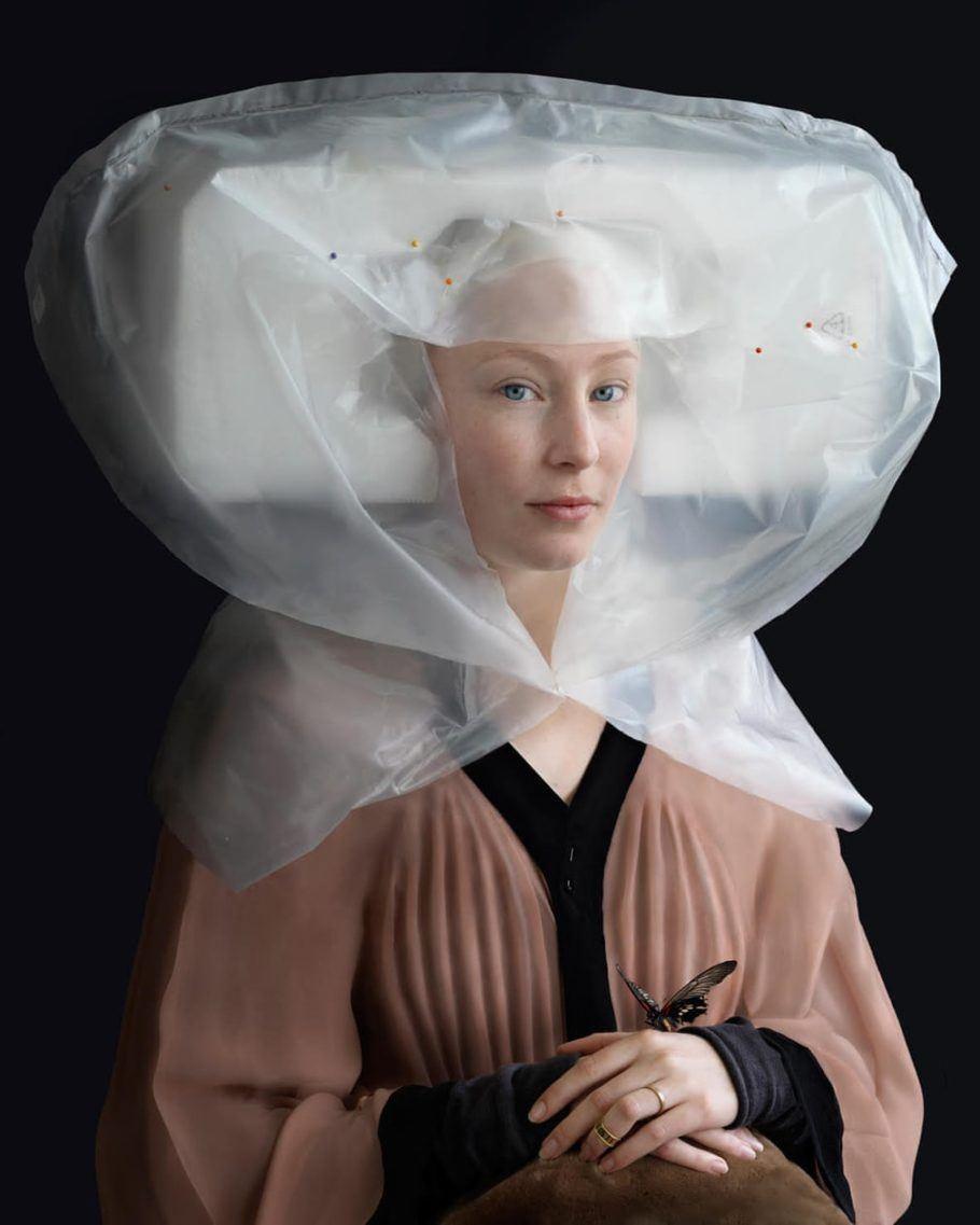 Arte com materiais reciclados: Quarto de Vestir