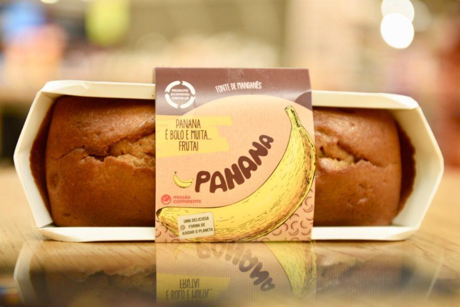 A banana madura demais é o principal ingrediente do Panana