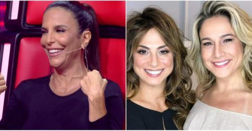 Ivete revela que Fernanda Gentil casou com Priscila Montandon