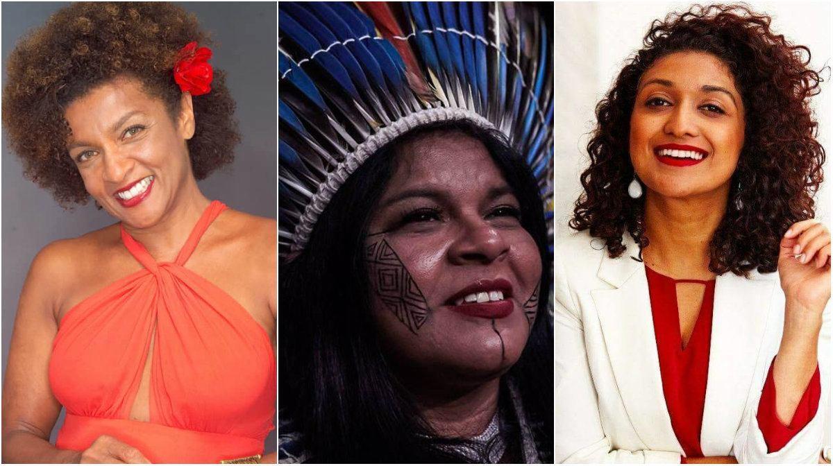 Elisa Lucinda, Sonia Guajajara e Viviane Duarte