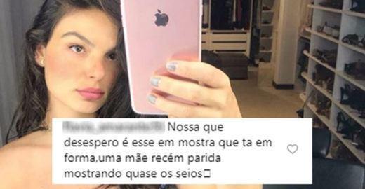 Isis Valverde é criticada por se exibir no Instagram após o parto