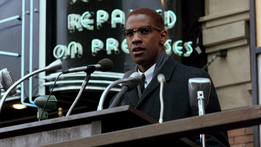 Denzel Washington em Cena de Malcolm X