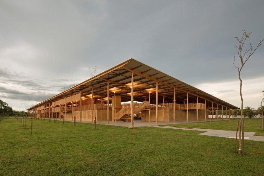 A moradia estudantil sustentável abriga alunos de uma escola rural do Tocantins