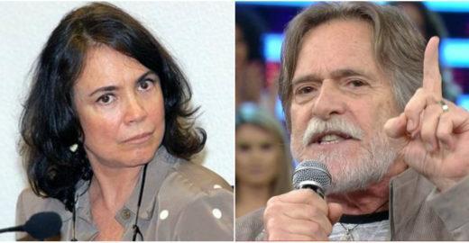 Regina Duarte pede fechamento do STF e é 'zoada' por Zé de Abreu