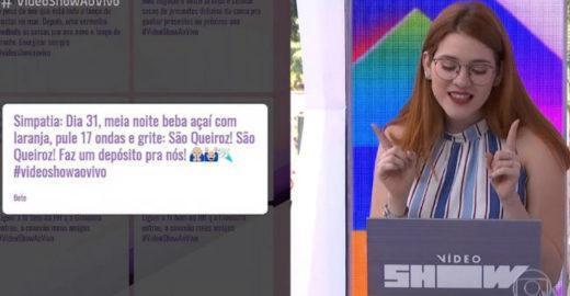 Ana Clara é trollada com 'simpatia de Queiroz' no 'Vídeo Show'