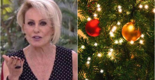 Ana Maria Braga mostra árvore de Natal com enfeites inusitados