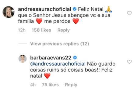 andressa urach perdão barbara evans