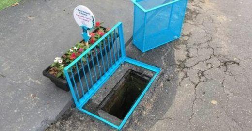 Filtro para bueiro de rua é solução simples em época de chuvas