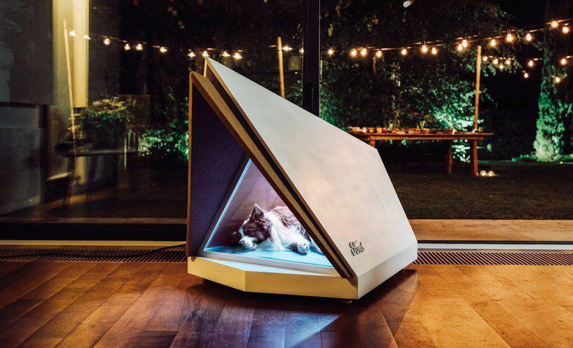 A casinha ideal para cachorros com medo de fogos tem painéis de isolamento acústico