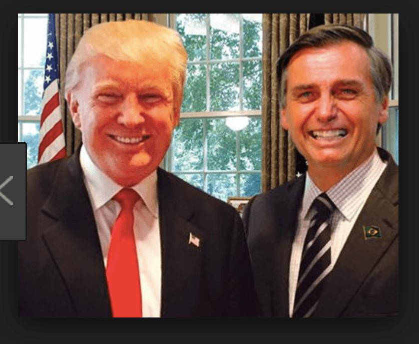 Resultado de imagem para Bolsonaro e Donald Trump