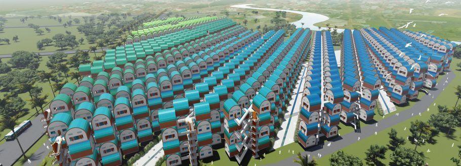 O projeto foi feito para 3.000 unidades habitacionais