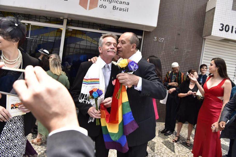 Juntos há 28 anos, Toni e o marido David decidiram oficializar o casamento em 2018