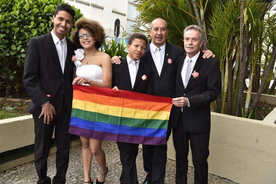Juntos há 28 anos, Toni e David decidiram oficializar o casamento em 2018