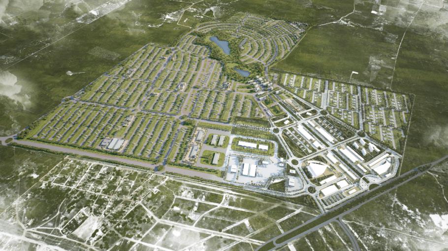 A cidade social inteligente vai contar com uma população de 25 mil pessoas