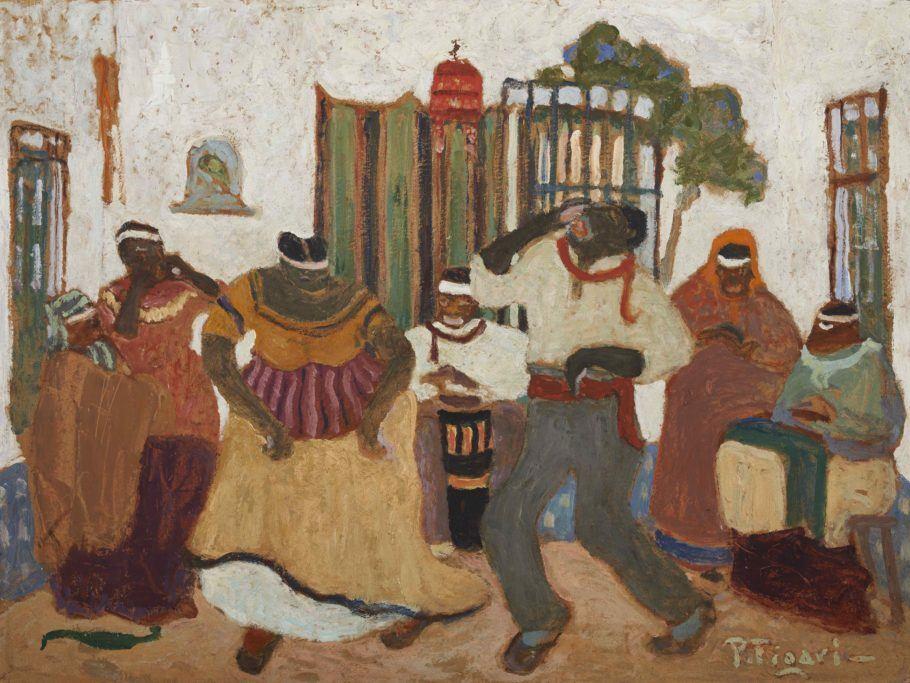 Obra Nostalgias Africanas, de Pedro Figari