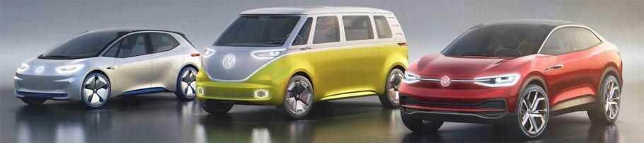 Modelos da linha I.D. de veículos elétricos da Volkswagen