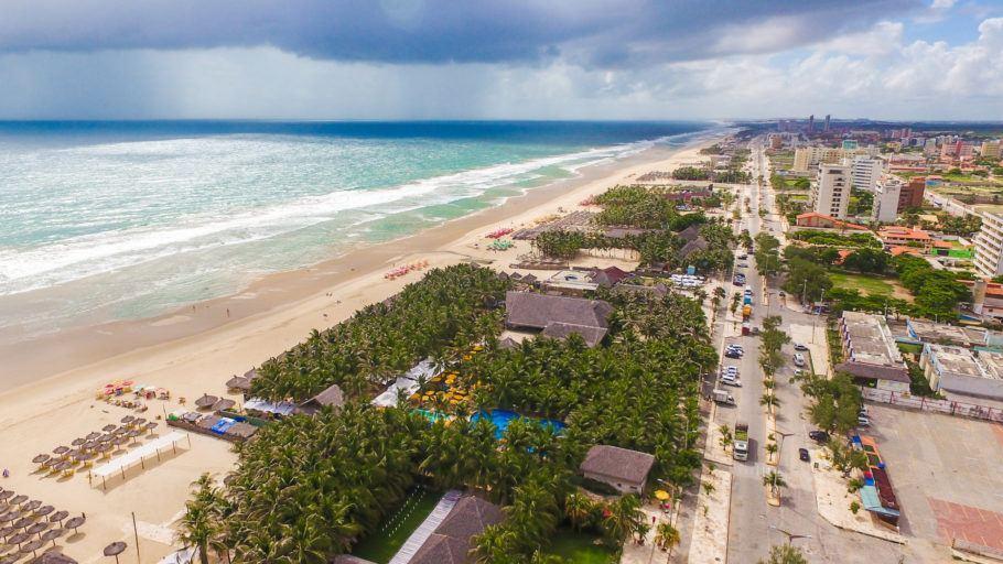 Vista da praia do Futuro, em Fortaleza