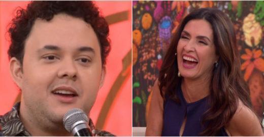 Gui Santana imita Bonner no 'Encontro' e deixa Fátima sem graça