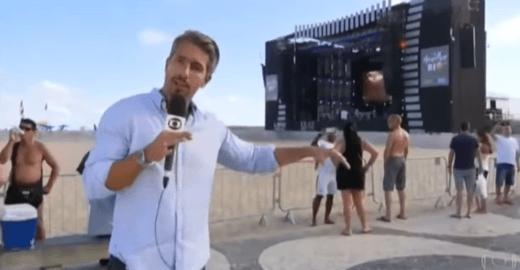 Após Ana Clara, repórter do JN brinca com as 17 ondinhas