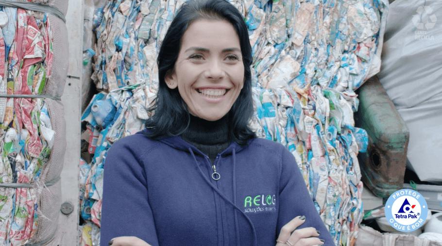 Quem trabalha com produtos resultantes da reciclagem de embalagens também é protagonista da série