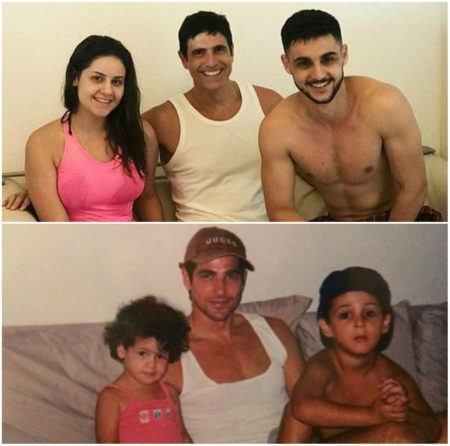 Reynaldo Gianecchini e sobrinhos: antes e depois