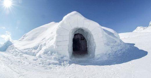 Cidade na Suíça tem pista de patinação no gelo dentro de um iglu