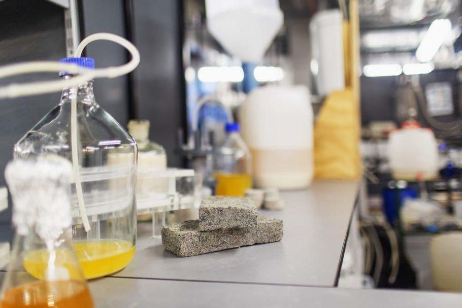 """Os ingredientes básicos do tijolo feito de xixi: urina, areia e bactéria que produz enzima responsável pelo efeito """"cimento"""""""