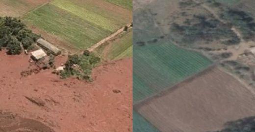 Imagens aéreas comparam antes e depois em Brumadinho (MG)
