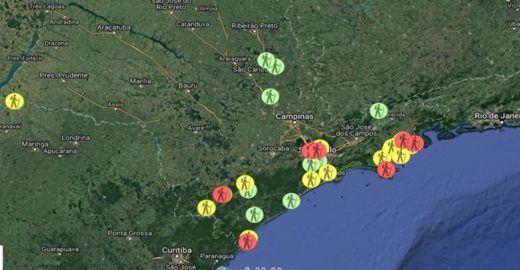 Aplicativo lista trilhas em áreas protegidas de São Paulo
