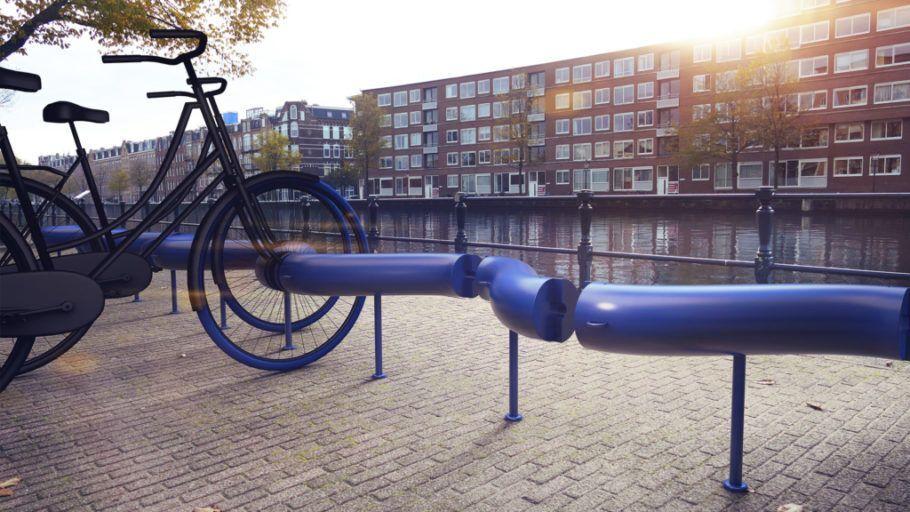 O projeto de bicicletário sustentável foi pensado para a cidade de Amsterdã, na Holanda