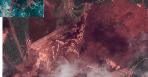 UOL usa satélite para detalhar antes e depois de Brumadinho