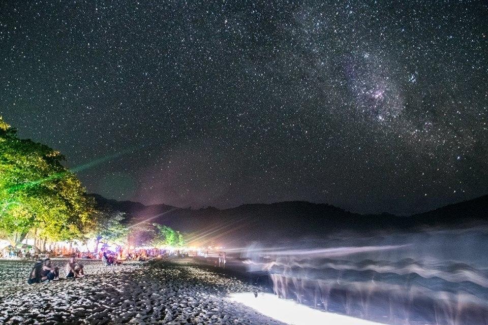Céu Noturno na Praia do Sono em Paraty