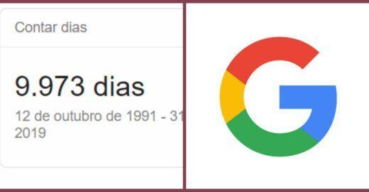 Contar dias: Google mostra quantos dias de vida você tem