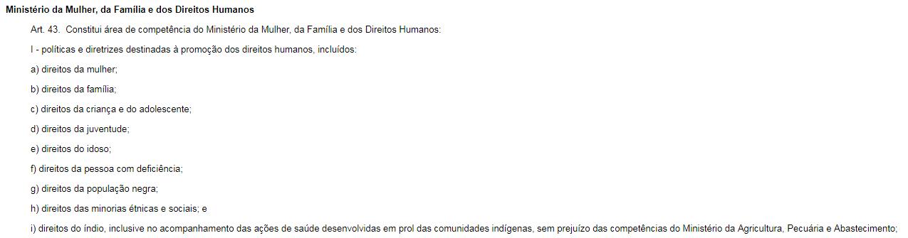 Decreto assinado por Bolsonaro em seu primeiro dia de governo.