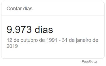 google contar dias