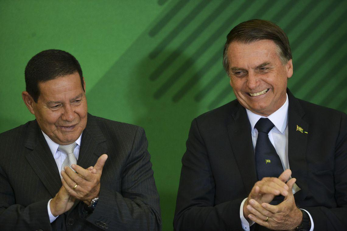 General Hamilton Mourão e o Presidente Jair Bolsonaro