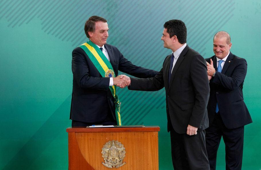 Sergio Moro, assume cargo como ministro da Justiça e Segurança Publica do governo Bolsonaro.