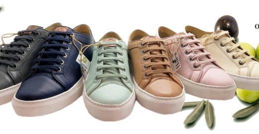 Sapato de couro vegano é produzido com folhas de oliveiras