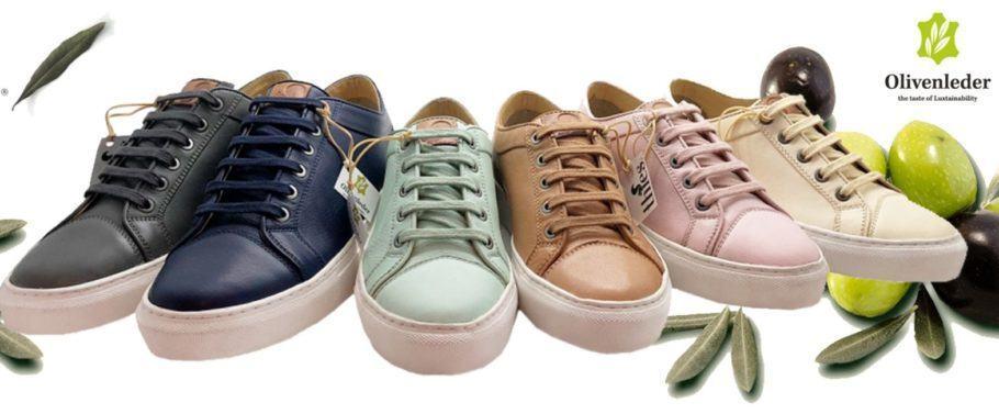 O sapato de couro vegano é produzido com folhas de oliveiras