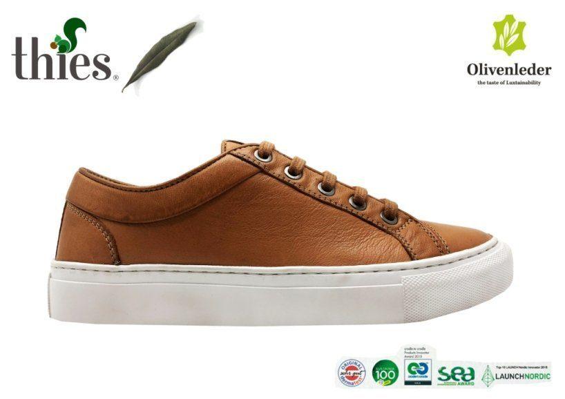 O sapato de couro vegano não é vendido só na cor de azeitona