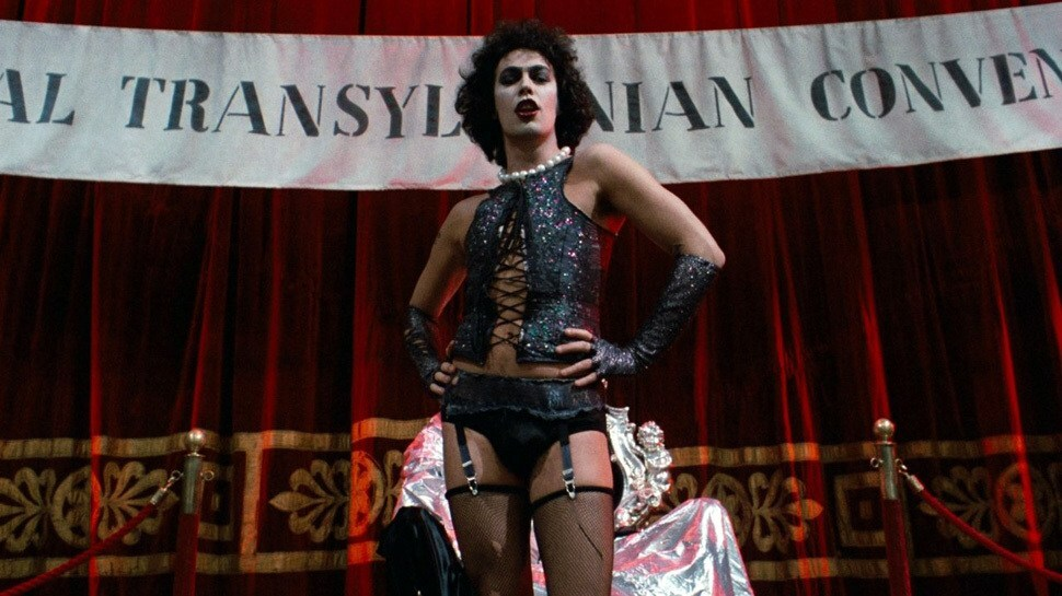 "Frame do filme ""The Rocky Horror Picture Show"""