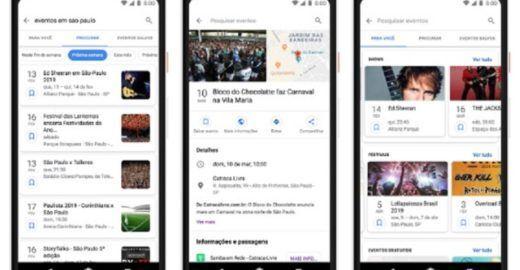 Google te ajuda a encontrar os melhores eventos da sua cidade