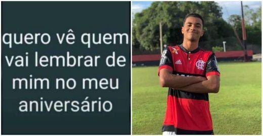 Hoje seria aniversário de Arthur, um dos meninos do Flamengo