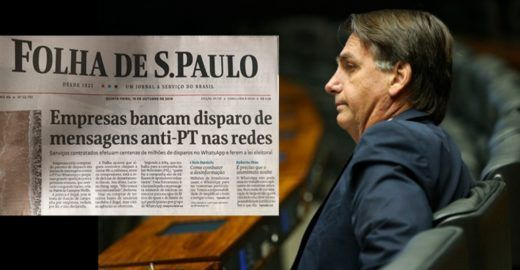 Folha dá  um tapa em Jair Bolsonaro e mostra que não tem medo