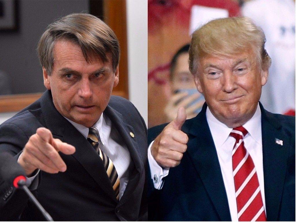 Resultado de imagem para bolsonaro trump