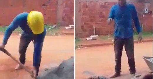 Vídeo com desafio do pedreiro abala a aposentadoria de Bolsonaro