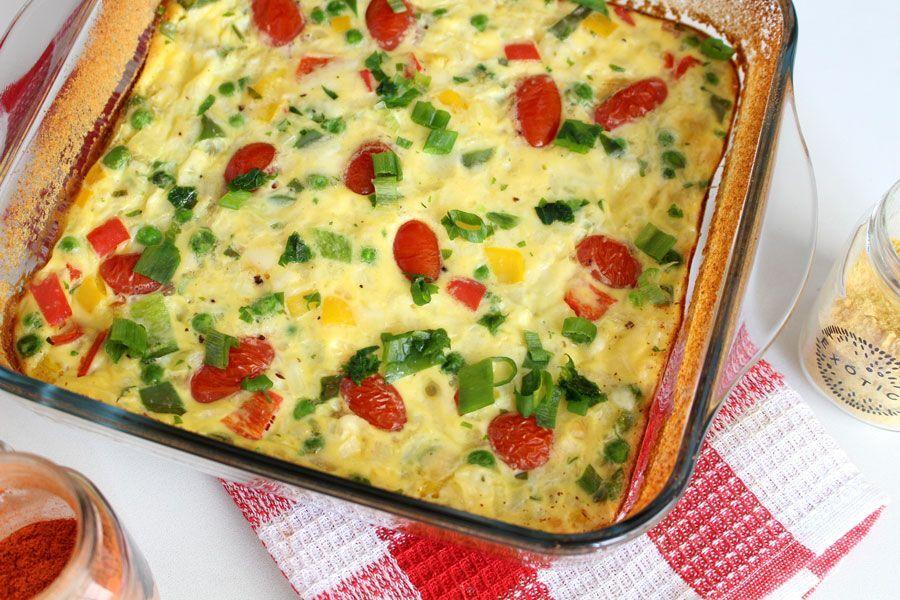 Omelete de forno com vegetais