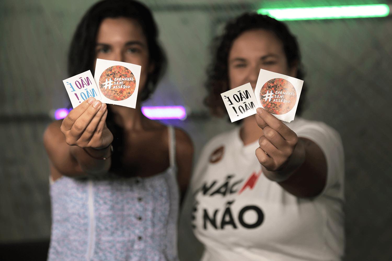campanhas Não é Não e #CarnavalSemAssédio