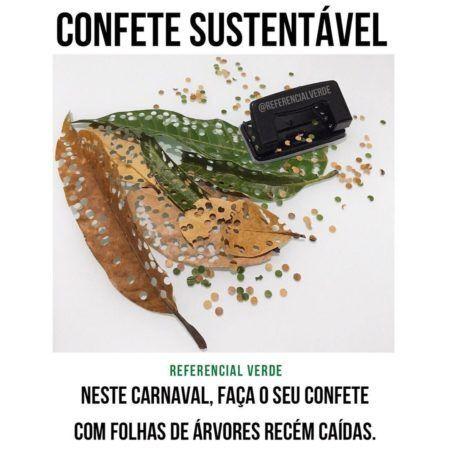 Neste ano surgiu uma nova e ecológica solução: os confetes de folhas!