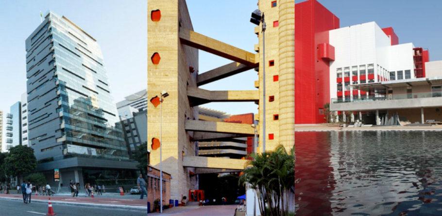 Da esquerda para direita: Sesc Avenida Paulista, Sesc Pompeia e Sesc Belenzinho